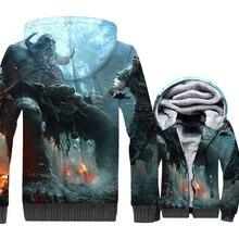 цены на God of War/SINNER/Days Gone/3D Print Hoodie Men Game Hooded Sweatshirt Winter Thick Fleece Warm Zip up Coat Hip Hop Jacket Mens  в интернет-магазинах