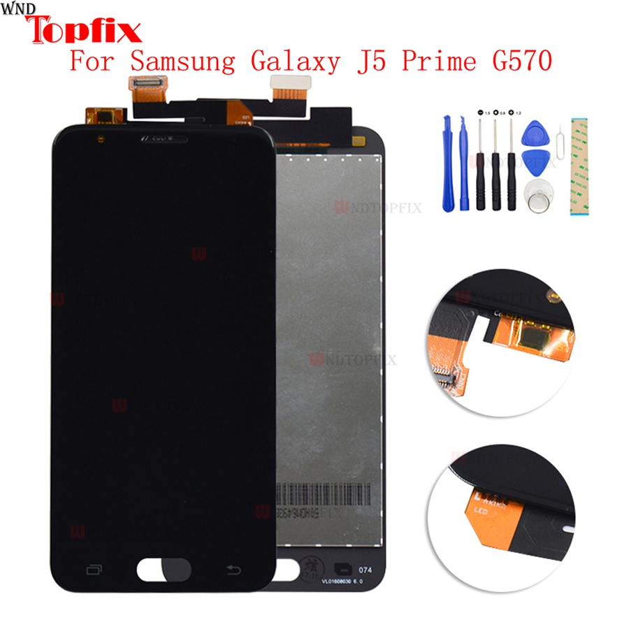 "LCD Display Touch Screen Digitizer For Samsung Galaxy J5 Prime G570 G570F/DS G570Y 5.0""Inch LCD Assembly Replacement Parts"