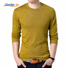 Covrlge Fashion Solid Mens Sweater 2017 Autumn New O-neck Black Jumpers Male Pollover Knitted Polo Shirt MZL001