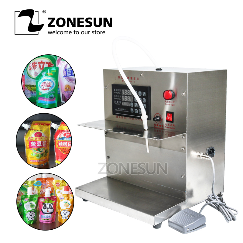 ZONESUN DFGB Self-priming Beverage Bag Filling Machine Compact Precise Numerical Digital Control Liquid Filling Machine