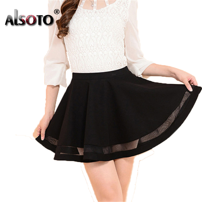 Summer Winter Women Skirt Sexy Saia Short Skater Skirts for Ladies Black Pleated Tutu School Skirt Fashion Faldas Jupe Ball Gown