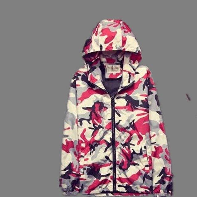 2016 камуфляж куртка весна и осенний период пункты тонкий полупальто развивать мораль даже крышка пары тенденция