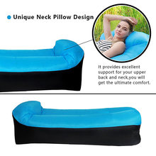 купить High Quality Inflatable Lounger Air Sofa Couch Hangout with Portable Carry Bag for Travelling Camping Pool Beach NCM99 дешево