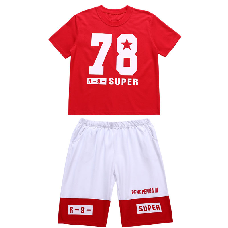 645044d09d8d European Kids Hip Hop Streetwear For Boys Summer Cotton T Shirts With  Numbers And Sport Shorts Boys Basketball Jersey Uniforms-in Clothing Sets  from Mother ...