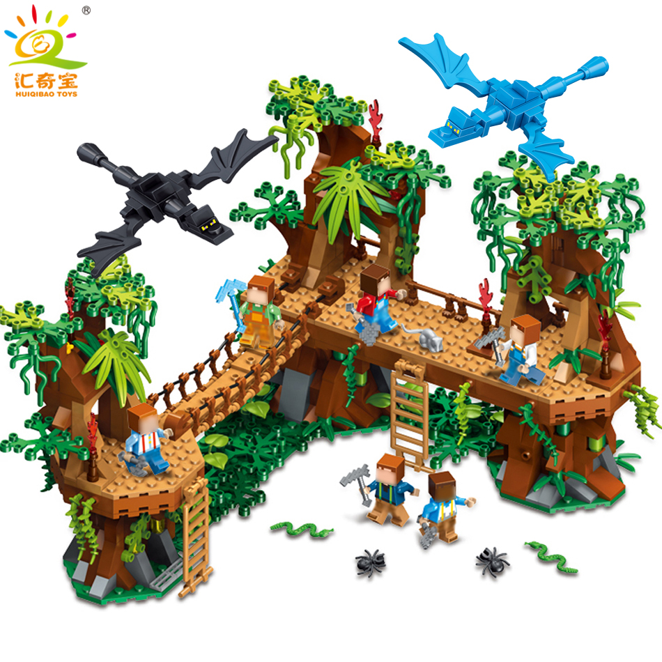 686PCS Mine Compatible Legoe MY WORLD Minecrafted Forest Model Building Blocks Set Brick Action Figure Toys Gift For Children smartable building blocks of my world minecrafted lepin 4in1 steve with weapon figures brick model toys for children gift lr 823