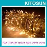 Ücretsiz kargo!!! toptan Çok renkli 10 M 100 LED Dize Işıklar 220/110 V LED Noel dekor işıklar Düğün Dekorasyon işıklar