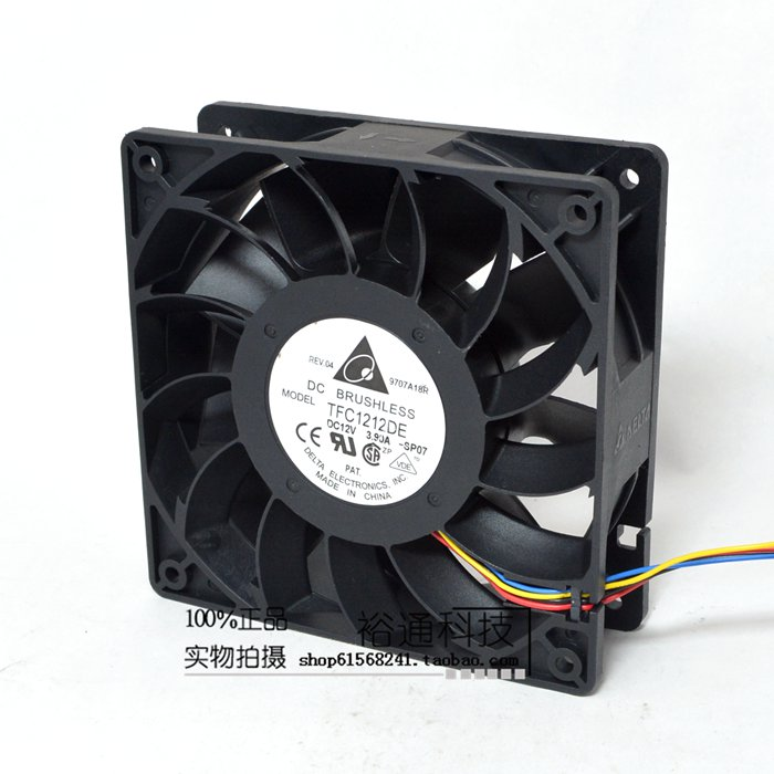 TFC1212DE Delta 120mm DC 12V 5200RPM 252CFM For Bitcoin Miner Powerful Server Case AXIAL cooling Fan high quality stainless steel wire drawing water glass holder panel 1pcs for lexus 2016 rx200 rx450h accessories