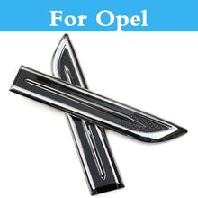 Shark Gills 2pcs Abs Chrome Car 3d Vent Air Flow For Opel Cascada Corsa Opc Gt Adam Agila Ampera Antara Astra Opc Car Exterior