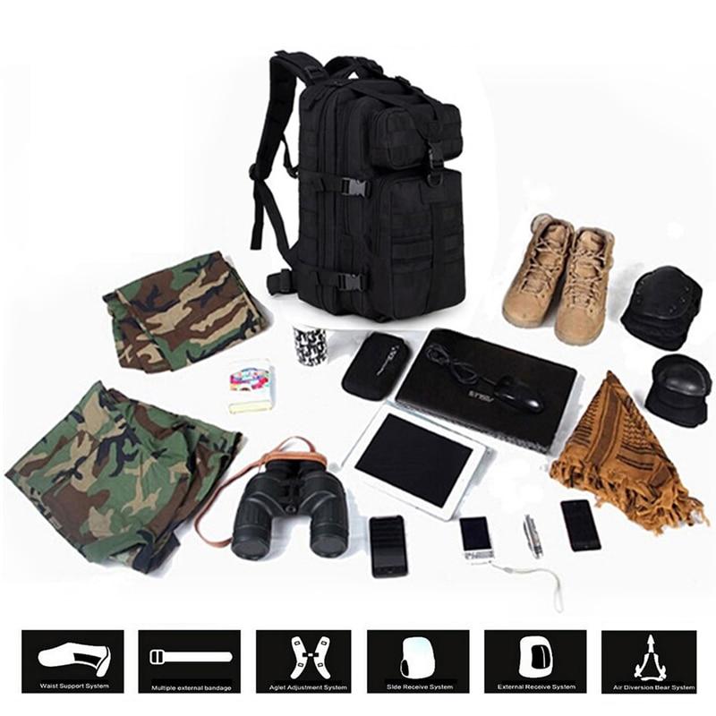 Esercito Capacità Trekking 4c Campeggio Arrampicata 1c Alpinismo Militare Outdoor 2c Spazio 5c Multi Campo 7c Borse Tattico 3c Pacchetto Di Zaino 6c Grande Molle 5XTRq7