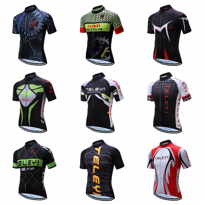 2019 Cycling Jersey Men Bike Jerseys Racing Bicycle Tops Pro Team Ropa Ciclismo Mtb Mountain Shirt Short Sleeve Cycle Jersey Red