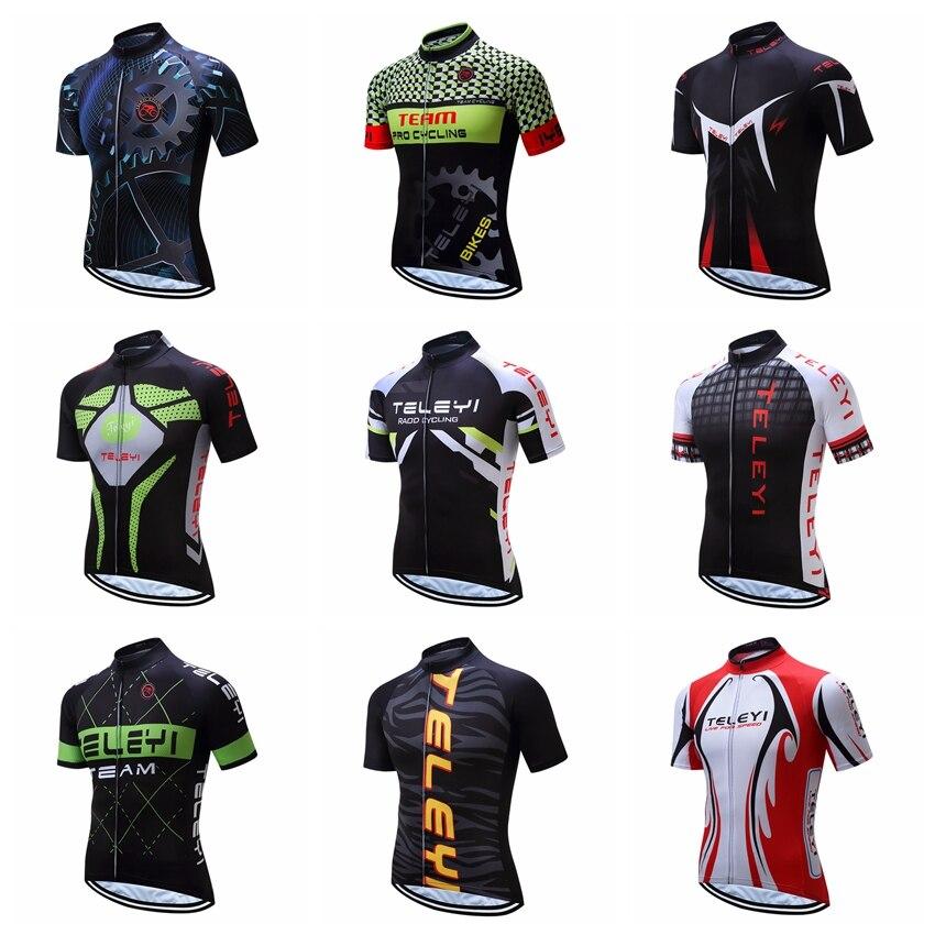 2020 Männer Radfahren Jersey Team Bike Kleidung Kurzarm Fahrrad Top T-shirt