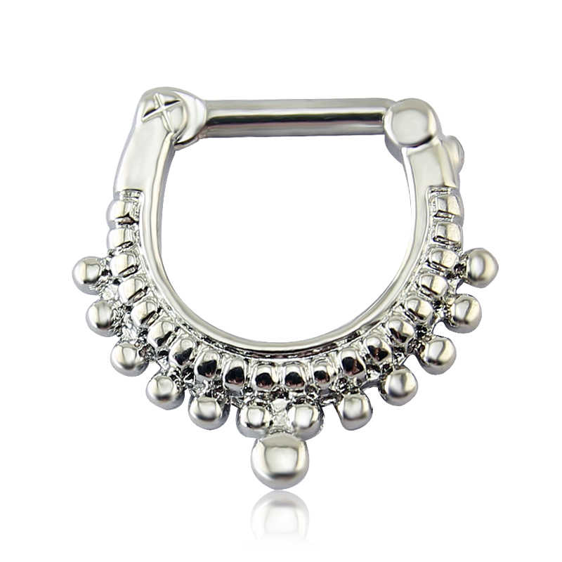 Mysterious Indian Septum Clicker Piercing Jewelry Anallergic Nose