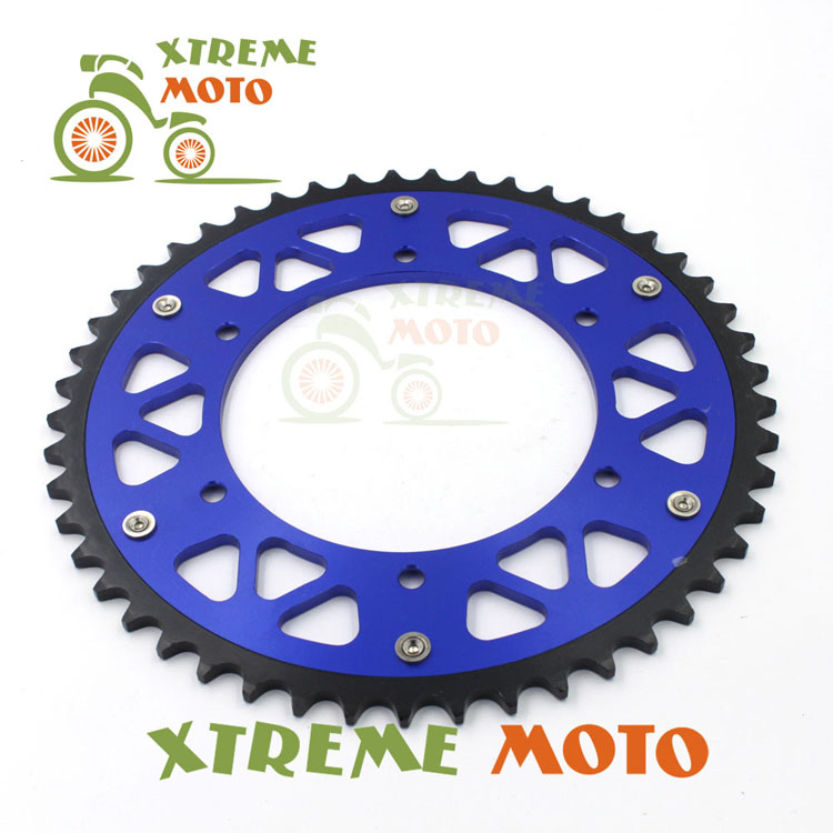 Blue 49T CNC Rear Chain Sprocket For Yamaha YZ125 TTR230 250F 250 400F 426F 450F Motocross Enduro Supermoto Dirt Bike Off Road motocross dirt bike enduro off road wheel rim spoke shrouds skins covers for yamaha yzf r6 2005 2006 2007 2008 2009 2010 2011 20