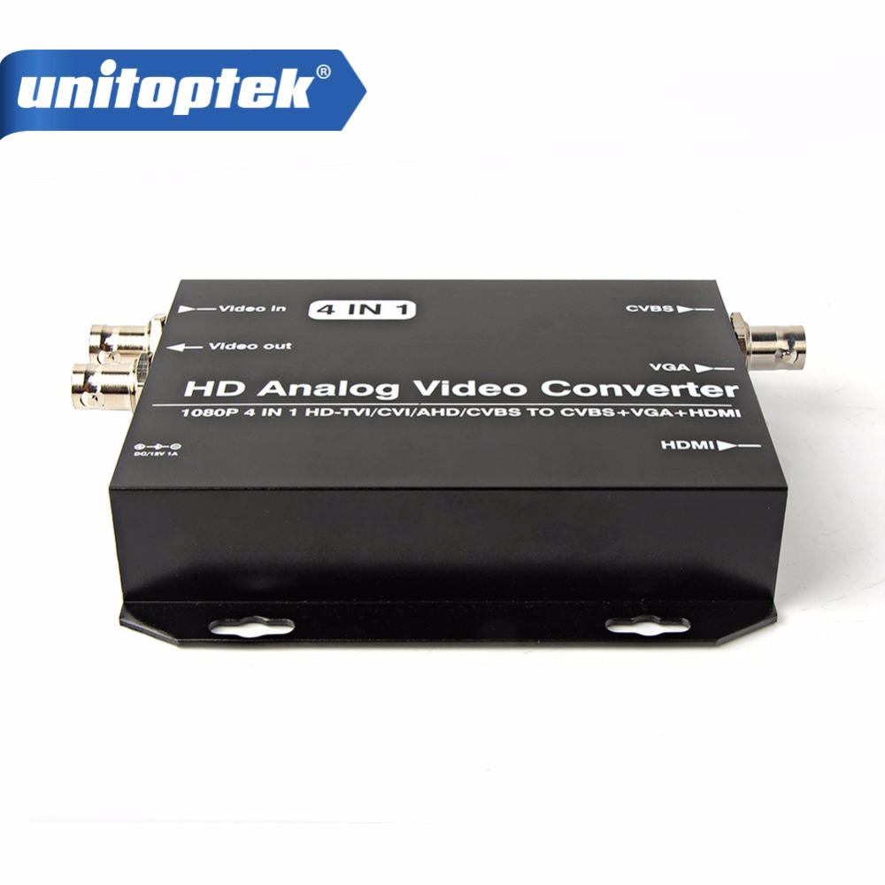 цена на HD AHD CVI TVI CVBS Camera Signal to HDMI/VGA/CVBS Converter Support HDMI+VGA+CVBS(BNC) Output 720P/1080P HD Video Converter