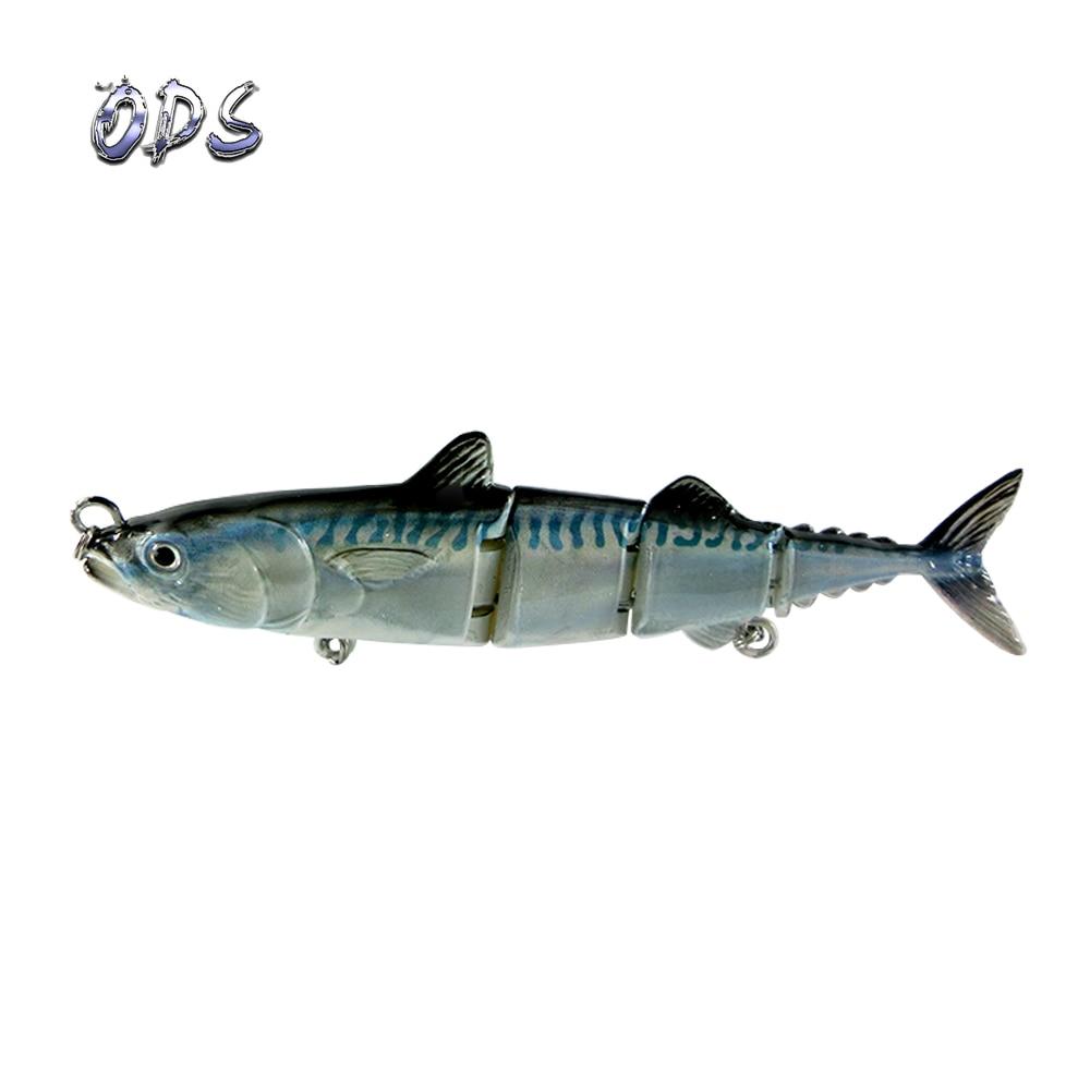 ODS 4 секции, плавающая приманка для тунца, 15 см, 31 г, бесплатный образец, рыболовные приманки, жесткие шарнирные приманки для ловли окуня в соленой и пресной воде - Цвет: green color