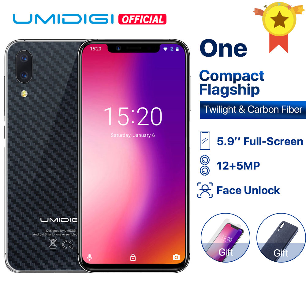 "UMIDIGI ONE Global version 5.9""fullsurface mobile phone Android 8.1 P23 Octa Core 4GB 32GB smartphone 12MP+5MP Dual 4G cellphone"