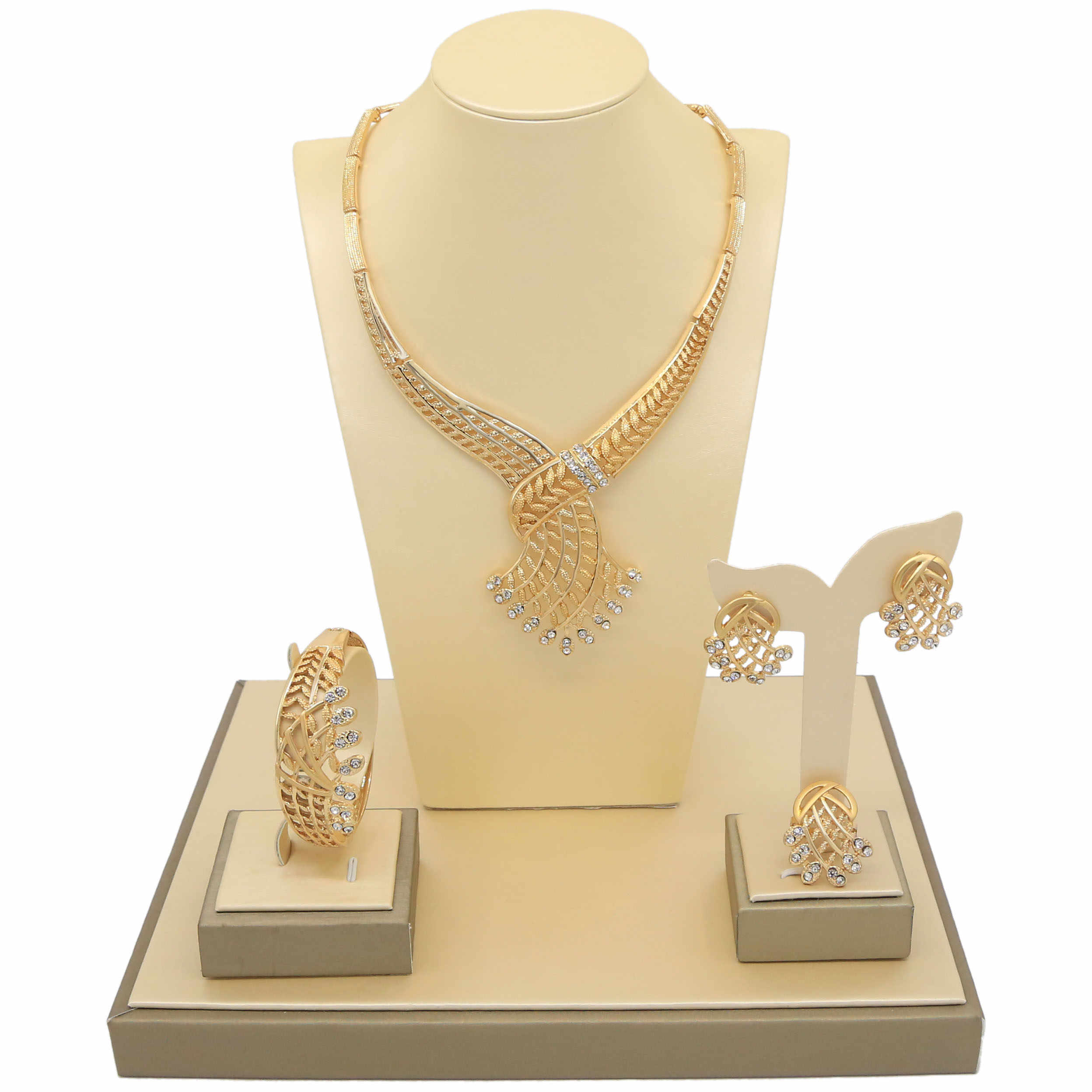 8936fc5937 Yulaili 2019 New Gold And Silver Two Colors Bridal Making Supplies Italian  Golden Series Deceny Jewelry