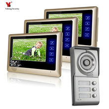 Yobang Security freeship 7″ touch keypad Building Video intercom access systems hand-free multi apartment video intercom system