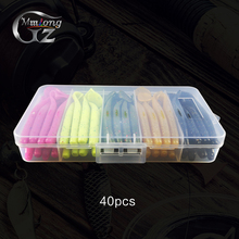 40pcs 10cm Soft Fishing Lures Set MSB100 6g Silicone Shad Bait Wobblers Lure in Fishing Tackle Box Carp Pesca Baits Wholesale