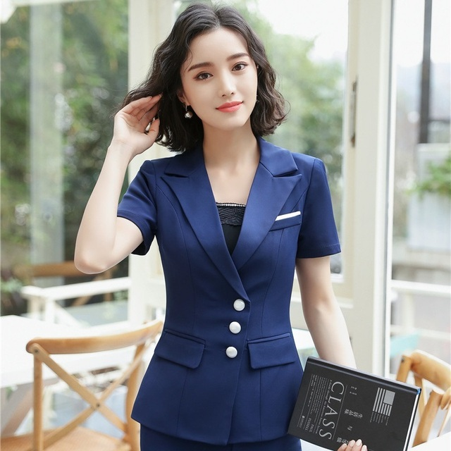 f8998c91d7607b Formal Uniform Styles Female Blazers Coat For Business Women Work Wear  Jackets Blazer Outwear Beauty Salon Tops Clothes