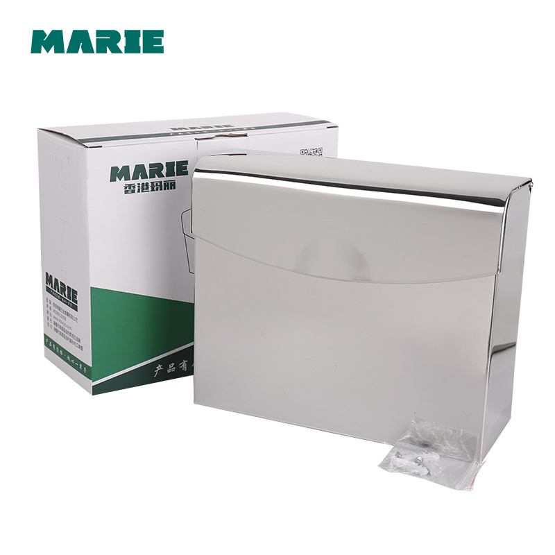 Recessed wall embedded stainless steel roll holder toilet paper tissue box tray towel