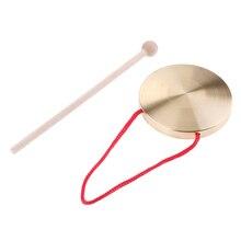 Гонг китайский с Красной Веревкой Ручной тарелки мини для детей ритм обучения перкуссионные Музыкальные инструменты аксессуар
