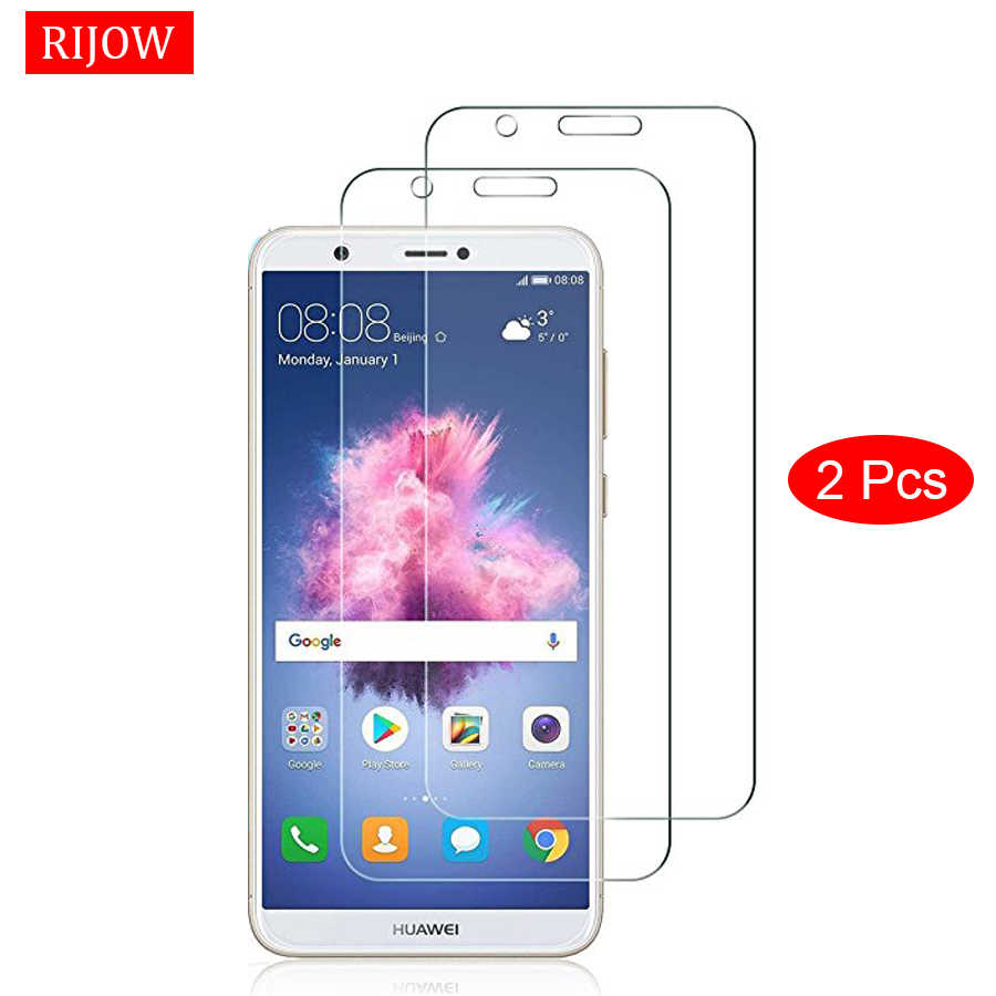 2Pcs Glass For Huawei P Smart Tempered Glass for Huawei P Smart Screen Protector For Huawei Enjoy 7s Glass Full Cover Film