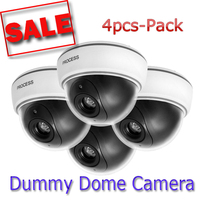 Best Version 4pcs Lot LED Light Dummy Dome CCTV Security Home Safe Surveillance Camera Flashing Fake