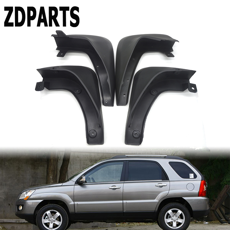 ZDPARTS Car Front Rear Mudguards For 2004 2005 2006 2007 2008 2009 2010 KIA Sportage W/O Cladding Mudflap Accessories Fenders