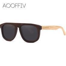 AOOFFIV Wood Sunglasses Women Polarized Lens Sun Glasses Bamboo Frame Eyewear 2017 New Designer Shades UV400 Protection ZB77