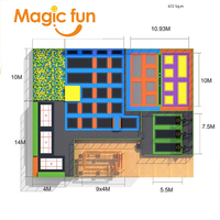 MAGICFUN commercial big spring super jump trampoline basketball court