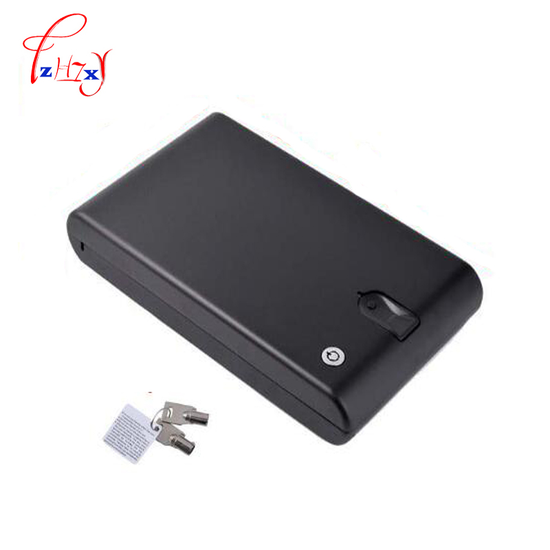 Fingerprint Safe Box Security Fingerprint and Key Lock 2 in 1 Valuables Jewelry Box Protable Safes Strongbox For Car Household protable safes strongbox fingerprint safe box security fingerprint and key lock 2 in 1 valuables jewelry box for car household