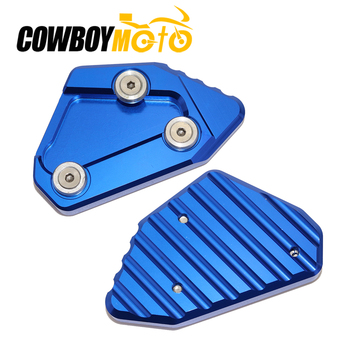 Motorcycle Side Stand Enlarger Plate Extension Pad For Suzuki GSXR1000 GSXR 1000 2009 2010 2011 2012 2013 2014 2015 2016 image