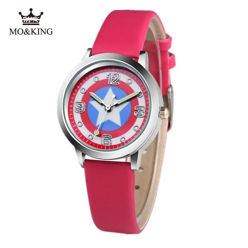 Captain America Civil War Avengers Watch Fashion Watches Quartz Children Kids Clock Boys Girls Students Wristwatch 7 Colors