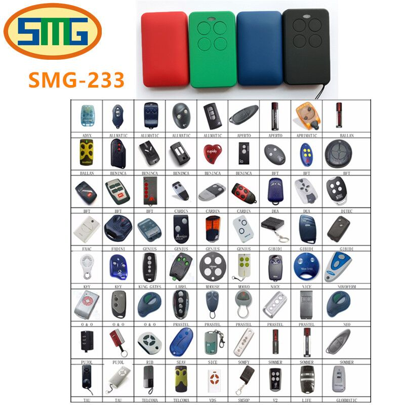 Multi frequency copy 315mhz 433mhz 868mhz sommer,bft,liftmaster,nice,faac,marantec,hormann rolling code universal remote control