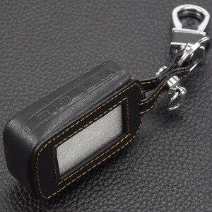 Image 4 - Jingyuqin 4 düğmeler uzaktan deri anahtar kapağı kılıfı anahtarlık Starline E60 E61 E62 E90 E91 2 yönlü araç Alarm sistemi uzaktan