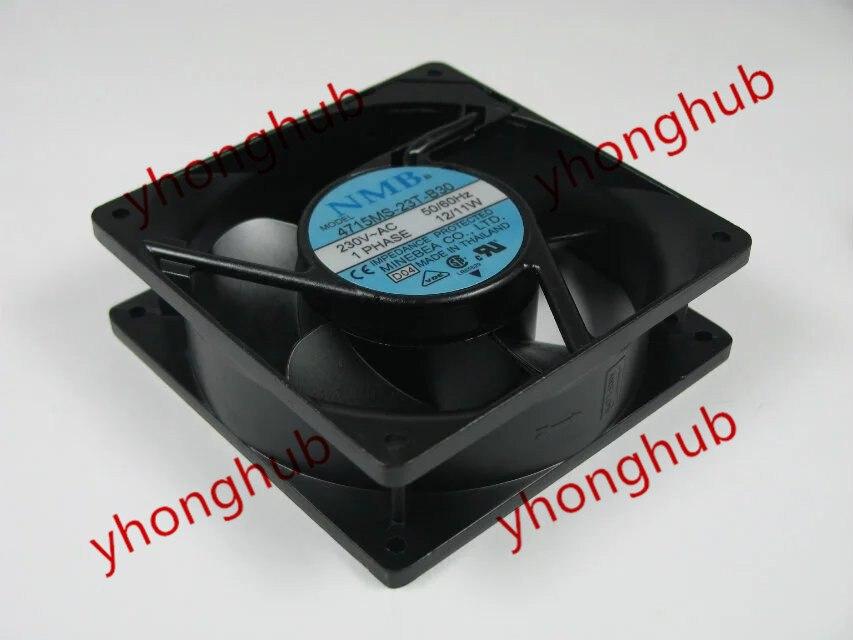 NMB-MAT 4715MS-23T-B30 D04 AC 230V 12/11W 120x120x38mm Server Square fan free shipping for nmb 4715ms 23t b5a d01 ac 230v 15w 120x120x38mm server square fan