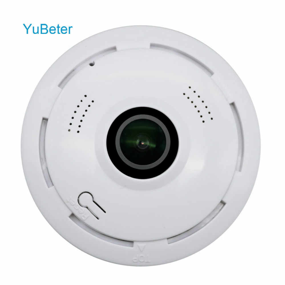 YuBeter 1.3mp Wireless Panoramic Camera Bulb Home Security Video Surveillance Fisheye Lens Two Way Audio Infrared Night Vision