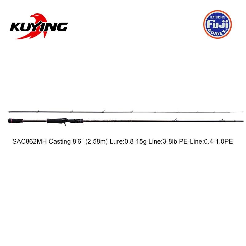 KUYING Nieuwe SUPERLITE 2.28m 7'6 2.58 m 8'6 Spinning Casting Vissen Lokken Rod Stick Cane Pole Super snelle Actie Bodem Water Vis - 4