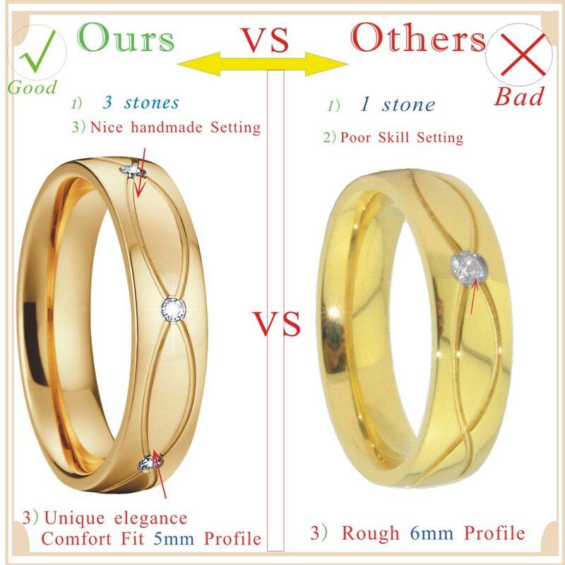 damer Vintage smycken allianser vigselringar för kvinnor guldfärg - Märkessmycken - Foto 2