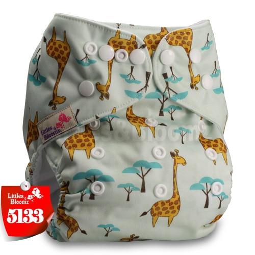 Littles& Bloomz детские моющиеся многоразовые подгузники из настоящей ткани с карманом для подгузников, чехлы для подгузников, костюмы для новорожденных и горшков, один размер, вставки для подгузников - Цвет: 5133