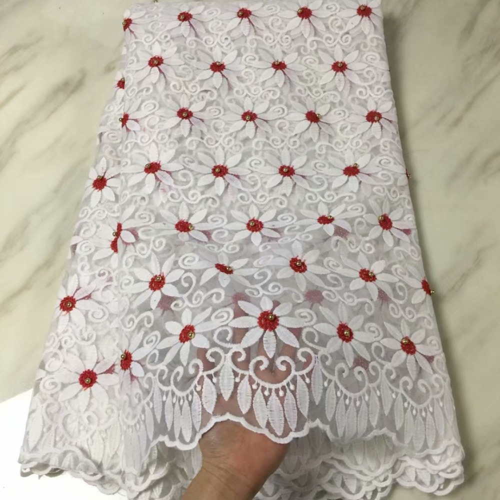 Painstaking High Organic Yarn Embroidered Milk Silk African Pearl And Stone Lace French Fine Cloth Gauze Tulle Lace Fabric Milk Silk Party Apparel Sewing & Fabric Home & Garden
