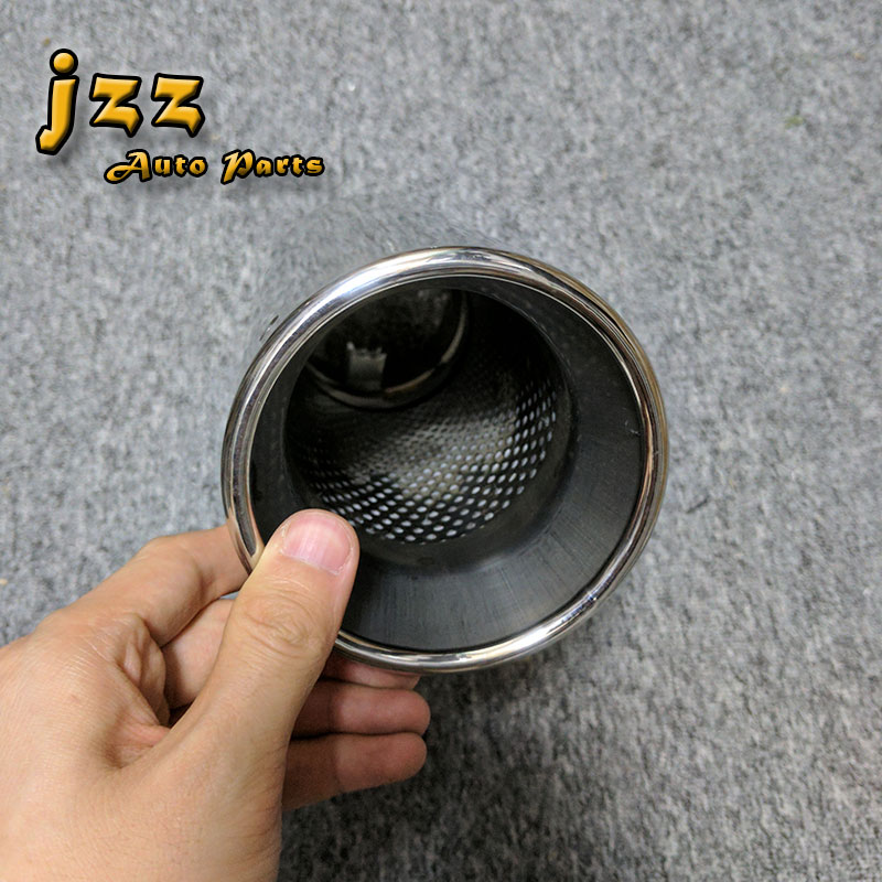 JZZ COZMA 76mm inlet Universal Fits Car Stainless Steel Slant Exhaust muffler tail car pipe for golf 6