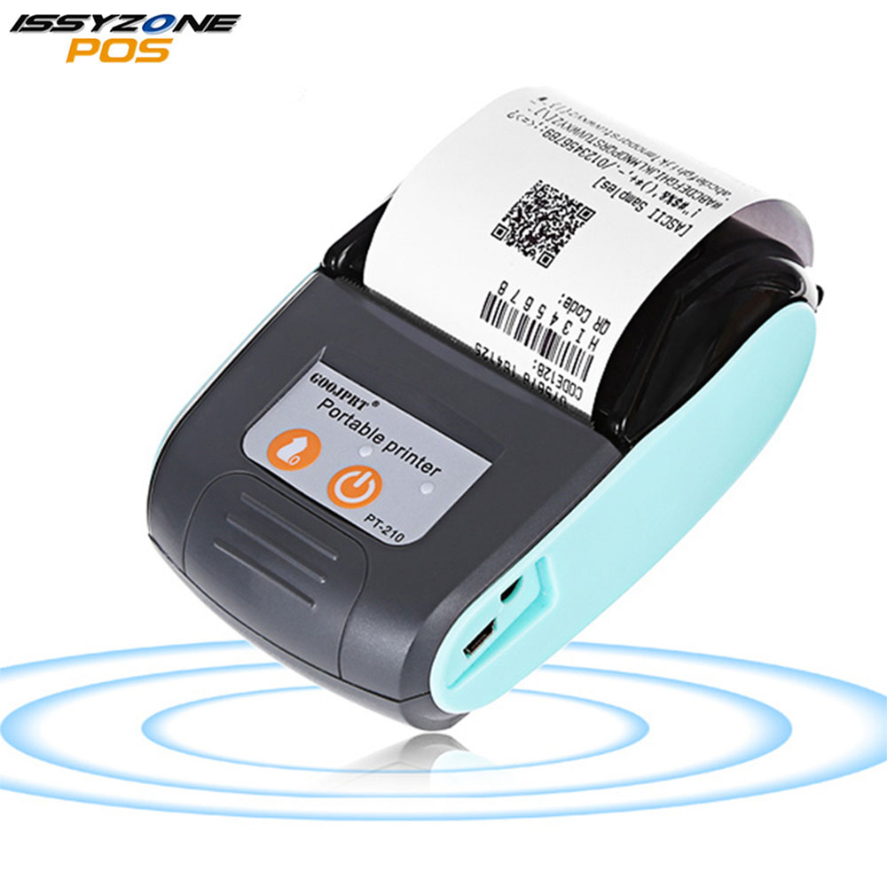 IssyzonePOS Bluetooth Thermal Printer Mobile Mini 58mm Portable Receipt Handheld Pos Printers for Android IOS System IMP026 rugline p5803 pos bluetooth printer mobile mini portable thermal receipt printer handheld pos printers bluetooth for android ios
