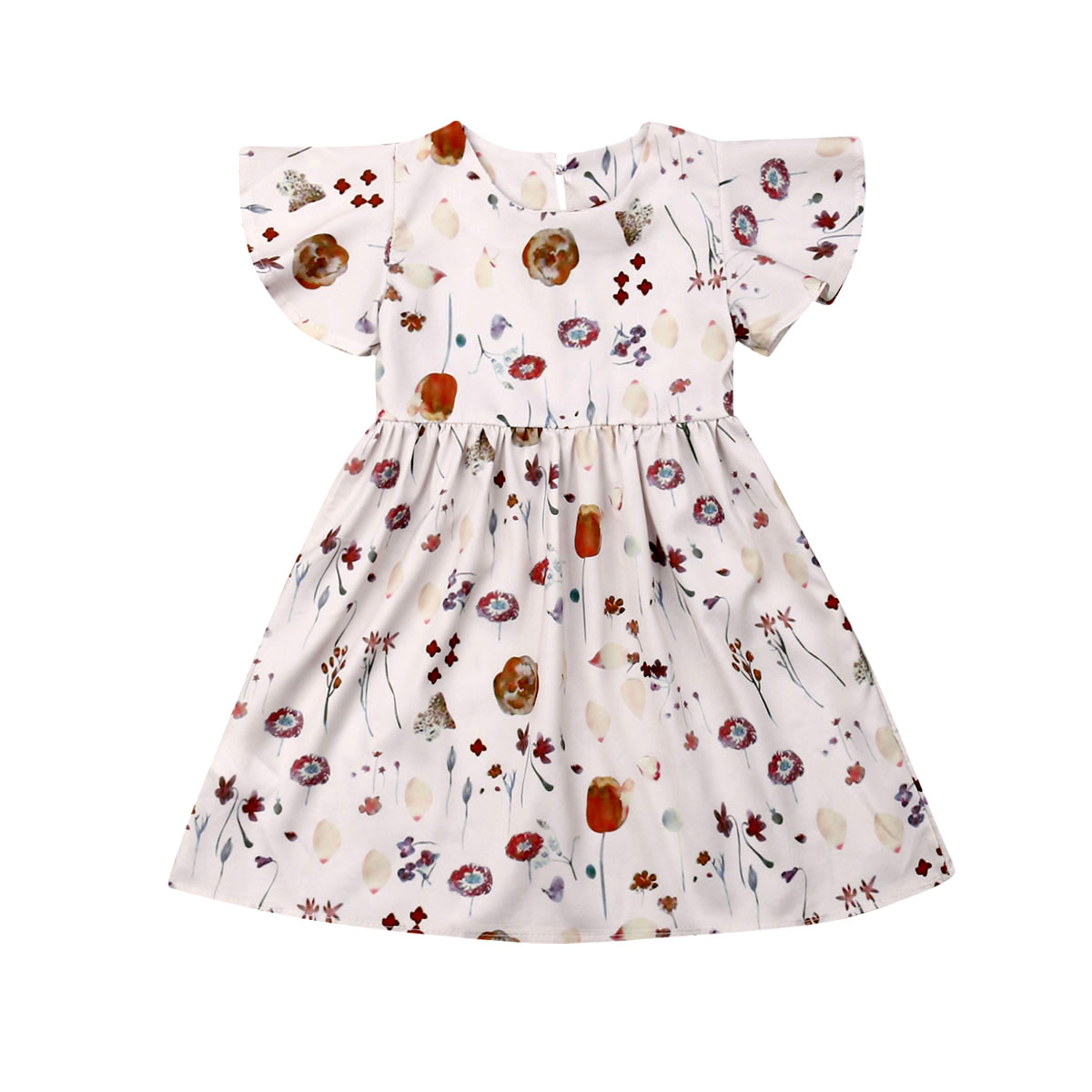 New Toddler Kids Baby Girls Floral Outfit Clothes Party Princess Dress Casual(China)