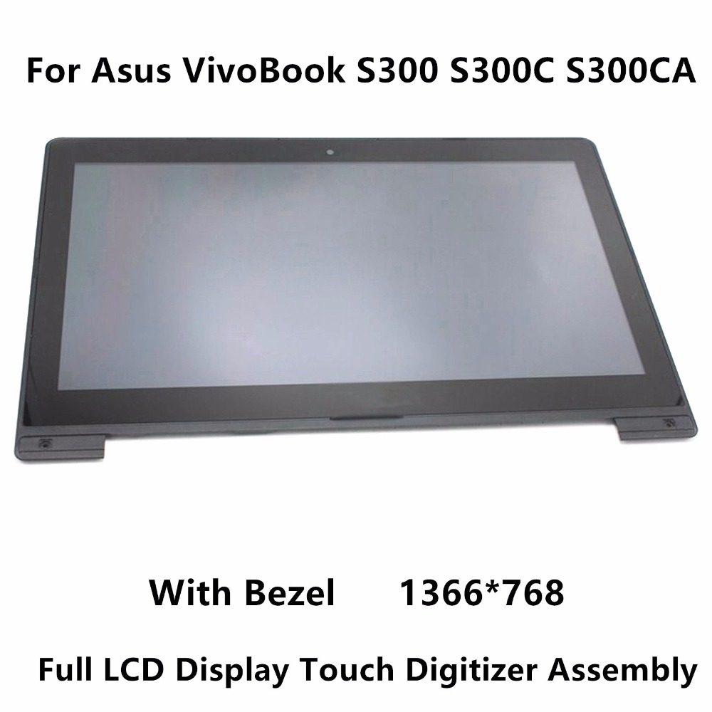 13.3 inch Touch Screen Digitizer Glass + LCD Display Assembly Replacement For Asus VivoBook S300 S300C S300CA S301 S301C S301CA 7 inch for asus me173x me173 lcd display touch screen with digitizer assembly complete free shipping