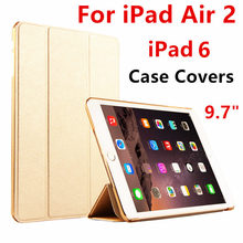 Case For Apple iPad Air 2 Protective Smart cover Protector Leather PU Tablet For iPad Air2 iPad 6 Sleeve cases Covers 9.7 inch(China)