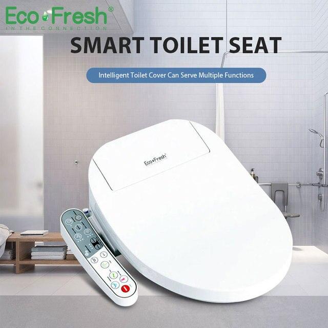EcoFresh heated toilet seat smart toilet cover Washlet led lighting toilet seat Electric Bidet intelligent toilet seat