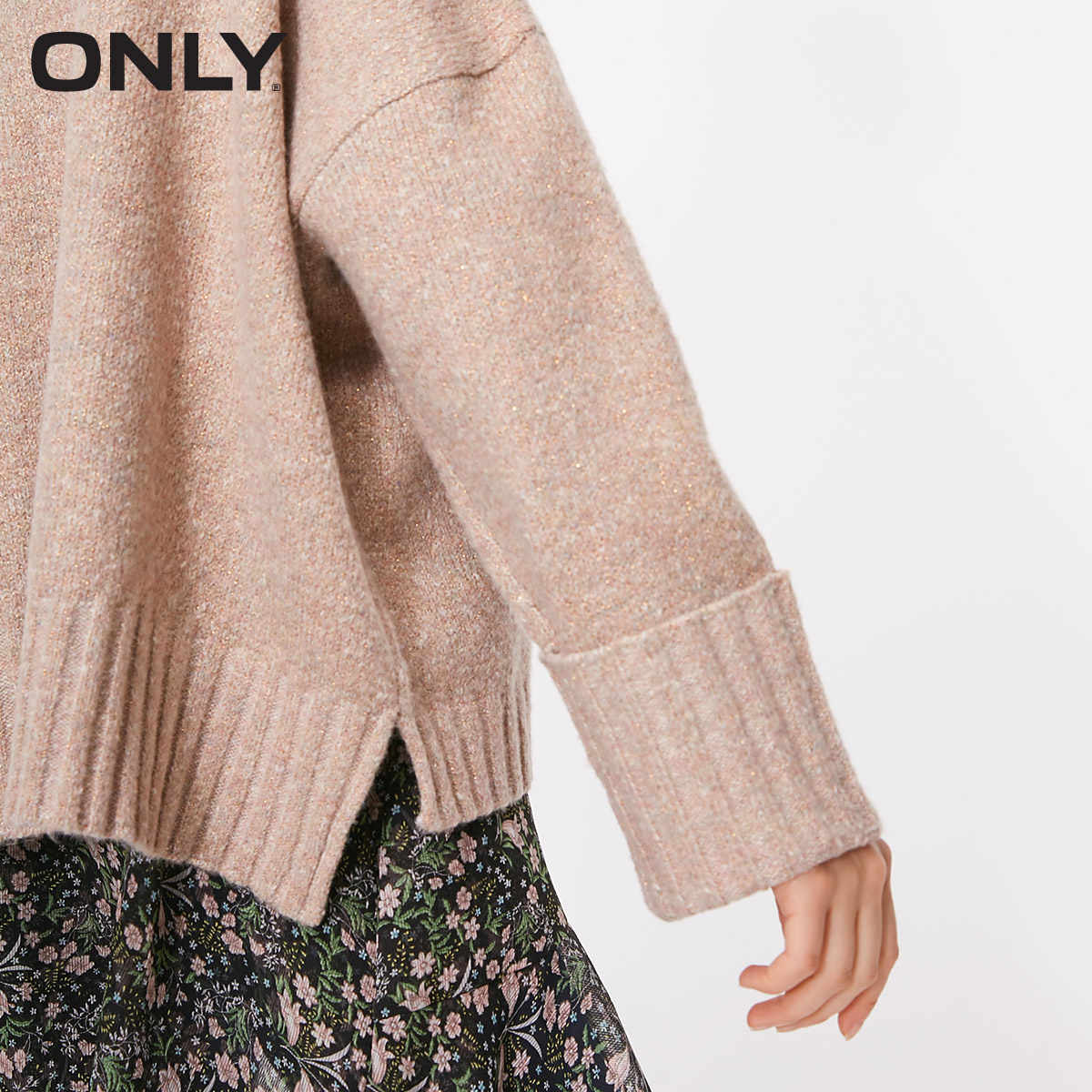 ONLY autumn and winter new high collar warm sweater women   | 118313521