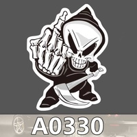 sticker motorcycle accessories New Arrival Car Sticker Cartoon Reflective Car Styling Sticker Motorcycle Car Decal Accessories 2082 (2)